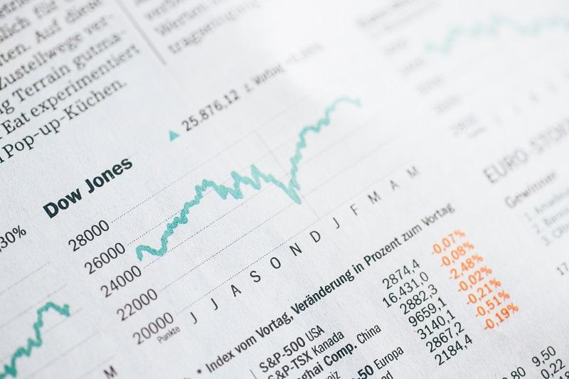 ダウ平均株価チャートの書類