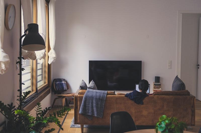 一人暮らしの部屋で勉強