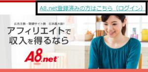 A8ネットのスマホでの無料登録画面からログイン