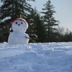 雪だるま式をイメージした雪だるまの画像